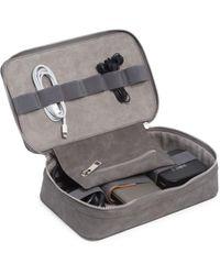 Bey-berk Tech Accessories Travel Case - Grey