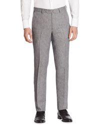 Saks Fifth Avenue - Regular-fit Linen Pants - Lyst
