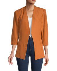 Calvin Klein Stretch Woven Tab-sleeved Blazer - Orange