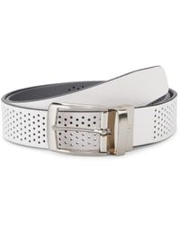 PGA TOUR Air Perforated Leather Belt - White