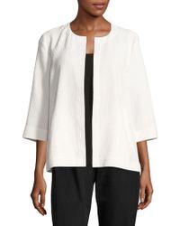 Eileen Fisher - Crinkle Cotton Jacket - Lyst