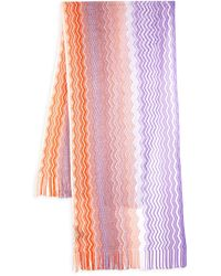 Missoni Chevron-knit Fringed Scarf - Multicolour
