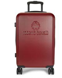 Roberto Cavalli Carry-on Hardshell Luggage - Purple