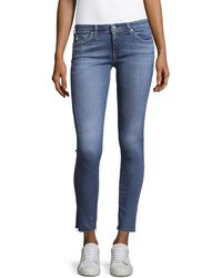 AG Jeans Distressed High-waist Jeans - Blue