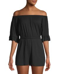 Rachel Pally - Angel Off-the-shoulder Playsuit - Lyst