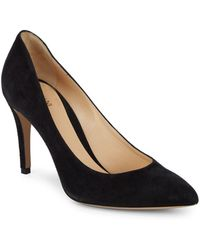 Armani - Suede Point Toe Pumps - Lyst
