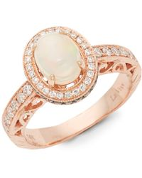 Le Vian 14k Strawberry Gold, Opal, Chocolate Diamond & Vanilla Diamond Ring - Metallic