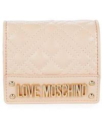 Love Moschino Women's Quilted Bi-fold Wallet - Light Blue