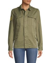 Zadig & Voltaire - Kayak Butterfly Graphic Military Jacket - Lyst