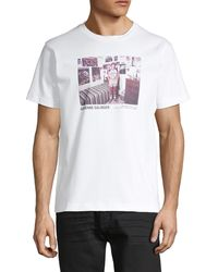 Helmut Lang Graphic Cotton Tee - White