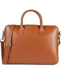 Mansur Gavriel Leather Crossbody Briefcase - Multicolour