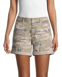 Sanctuary Women's Rolled-cuff Cargo Shorts - Dark Olive - Size Xs - Green