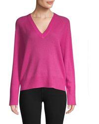 360cashmere V-neck Cashmere Jumper - Pink