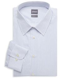 Armani Modern-fit Striped Shirt - Blue