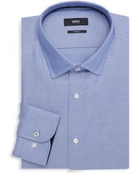 BOSS by Hugo Boss Slim-fit Printed Dress Shirt - Blue