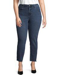 Max Studio Plus High-rise Skinny Jeans - Blue