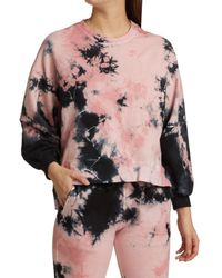 Electric and Rose Neil Tie-dye High-low Sweatshirt - Pink