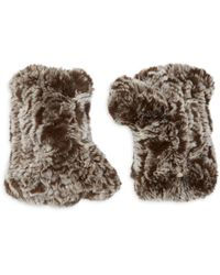 Saks Fifth Avenue Rex Rabbit Fur Fingerless Gloves - Black