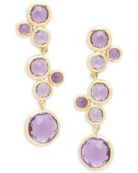 Ippolita Lollipop 18k Yellow Gold & Amethyst Drop Earrings - Multicolour