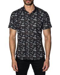 Jared Lang - Spaceship Cotton Button-down Shirt - Lyst