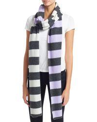 Charlotte Simone Multi Max Cashmere Stripe Scarf - Multicolour