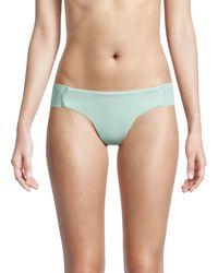 Pilyq Smocked Bandeau Bikini Bottom - Blue