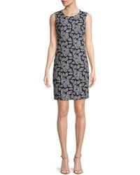 Karl Lagerfeld - Floral Sleeveless Sheath Dress - Lyst
