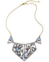 Alexis Bittar - Crystal-encrusted Mosaic Lace Bib Necklace - Lyst