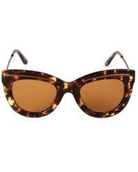 Bottega Veneta 49mm Etched Detail Cat Eye Sunglasses - Brown