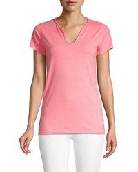Zadig & Voltaire Women's Short-sleeve Top - Fleur Neon - Size Xs - Pink