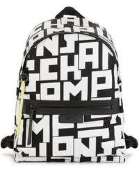 Longchamp Large Le Pliage Printed Backpack - Black