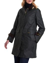 Barbour Icons Waxed Cotton Rain Jacket - Black