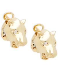 Effy 14k Yellow Gold Unicorn Stud Earrings - Multicolour