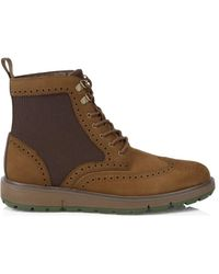 Swims Motion Wing Tip Lace-up Boots - Brown