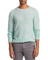 Saks Fifth Avenue Collection Textured Stripe Merino Wool Jumper - Multicolour