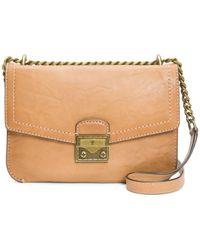 Frye Ella Leather Crossbody Bag - Natural