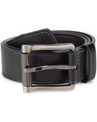 Robert Graham Men's Perforated Strand Leather Belt - Black - Size 38