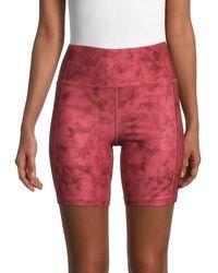 Jessica Simpson Tie-dye Biker Shorts - Metallic