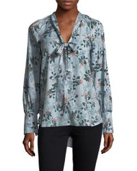 French Connection - Floral Self-tie Top - Lyst