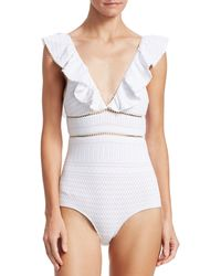 Jonathan Simkhai Lace One-piece Swimsuit - White