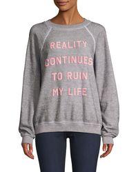 Wildfox Reality Graphic Sweatshirt - Grey