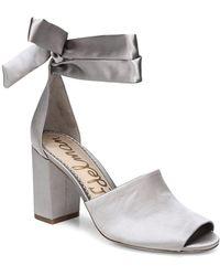 Sam Edelman Wrap Around Ankle-strap Sandals - Blue