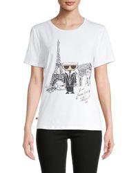 Karl Lagerfeld Karl Doll Graphic Print T-shirt - White