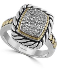 Effy - 18k Gold & Sterling Silver Diamond Ring - Lyst
