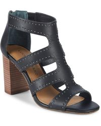 Lucky Brand - Tahira Studded Leather Sandals - Lyst