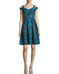 Maggy London - Off-the-shoulder Fit-&-flare Dress - Lyst