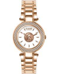 Versus Stainless Steel & Swarovski Crystal Bracelet Watch - Metallic