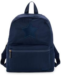 Peace Love World Pooch Backpack - Blue