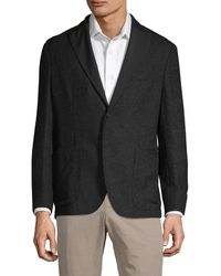 Boglioli Herringbone Textured Alpaca-blend Jacket - Black