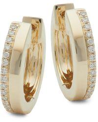 Saks Fifth Avenue 18k Yellow Gold & Pink Tourmaline Etched Ring - Metallic